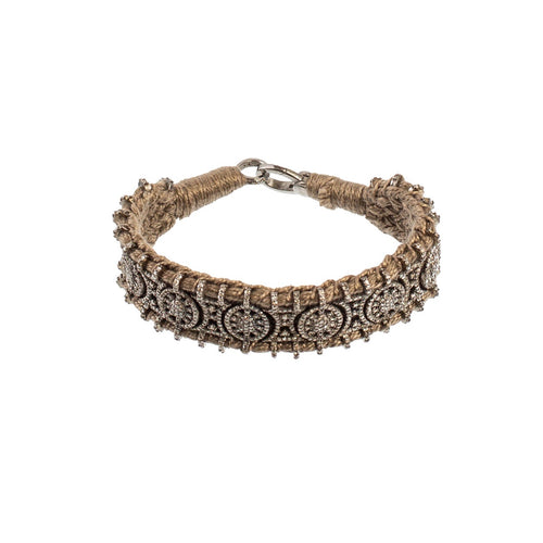 Tan Diamond Wrap Bracelet