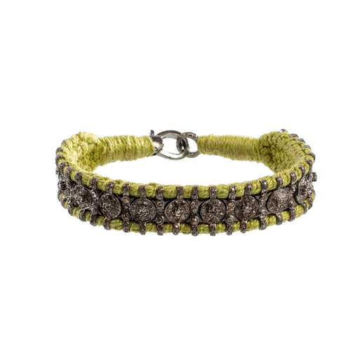 Lime Diamond Wrap Bracelet