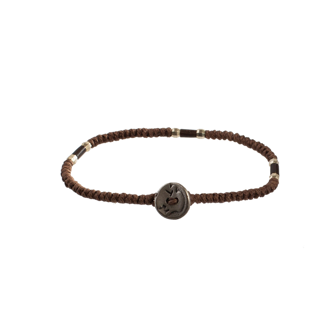 Brown and Silver Bracelet