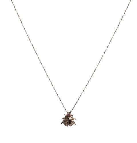Diamond Lady Bug Pendant