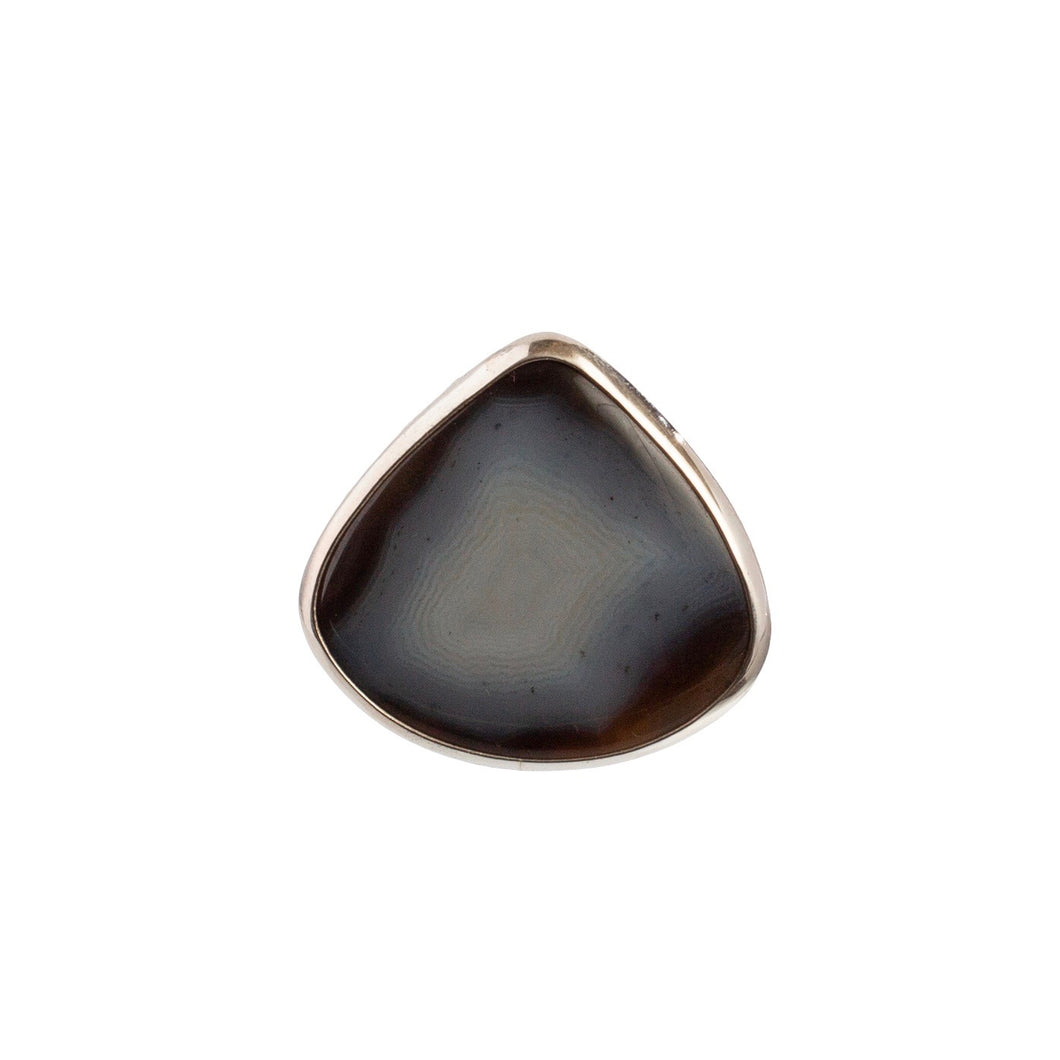 Teardrop Black Lace Agate Statement Ring