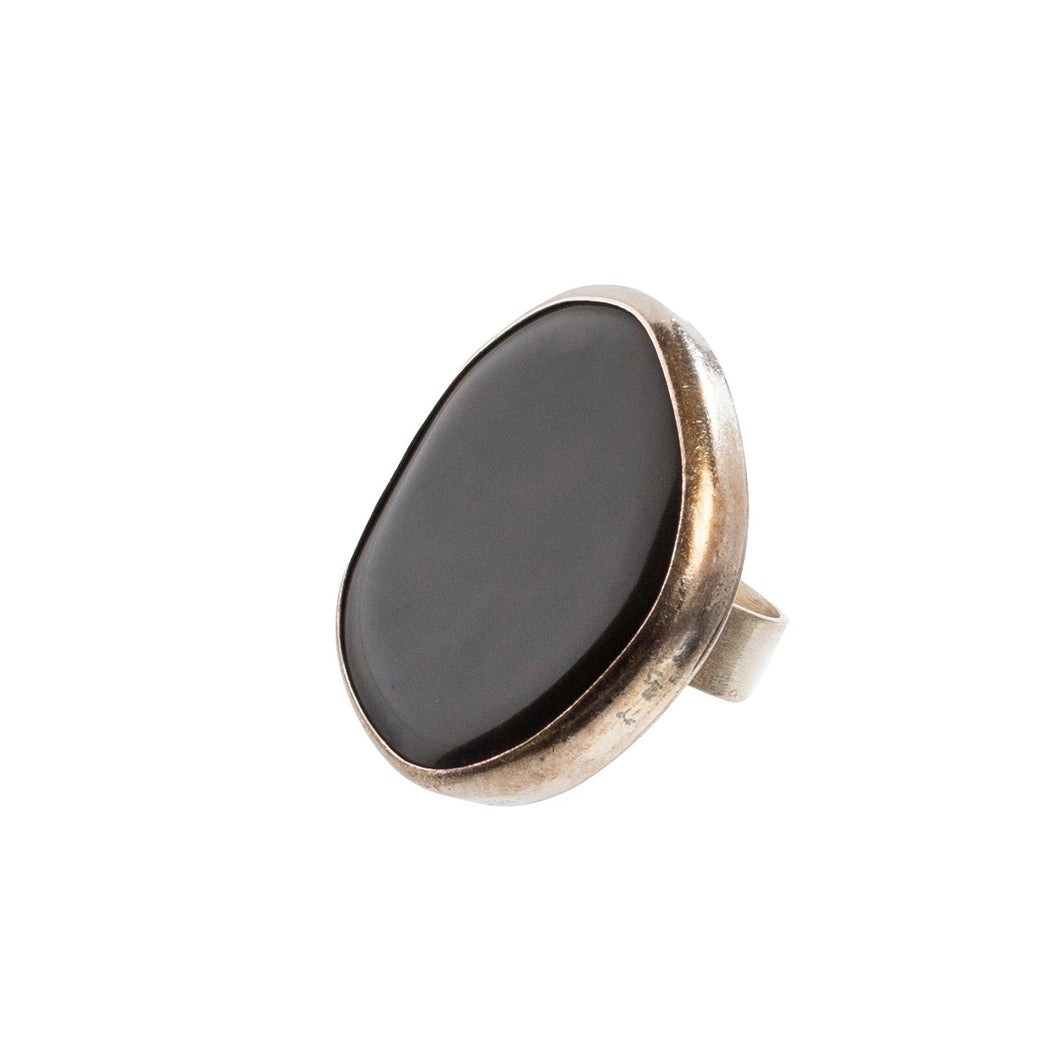 Large Rainbow Obsidian RIng