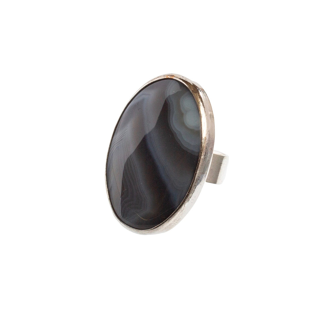 Milky Agate Ring