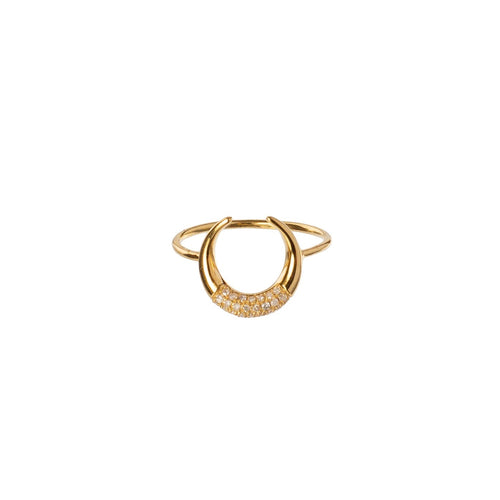 Bull's Horn Diamond Ring