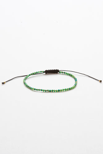 Lucky Green Beaded String Bracelet