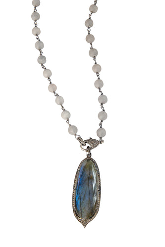 Soft Grey Agate Necklace