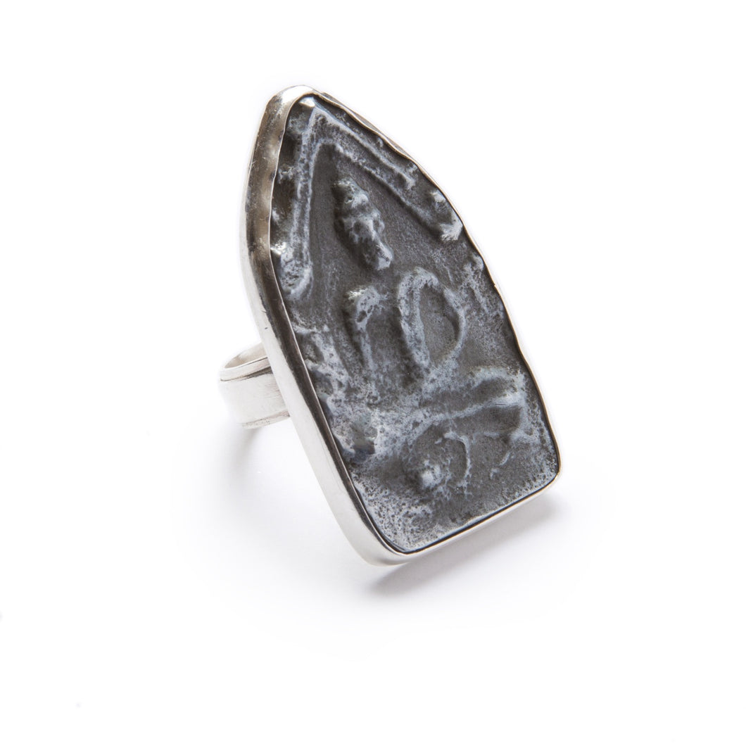 Antique Thai Buddha Amulet Ring