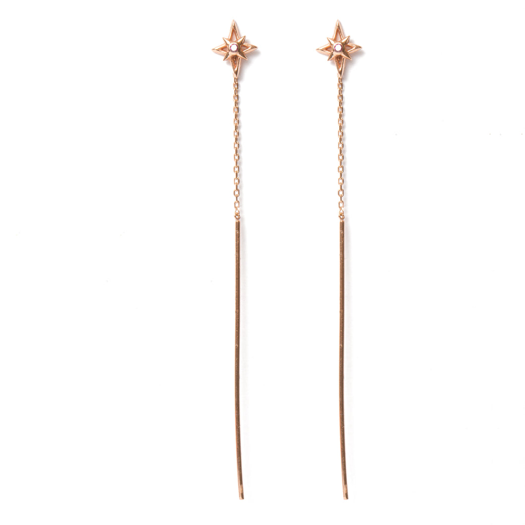 Falling Stars Diamond Earrings