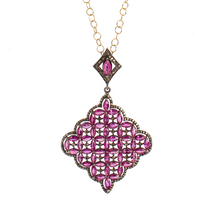 Ruby Latice Pendant