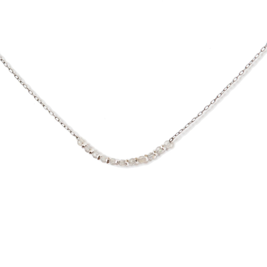 Delicate U Moonstone Necklace