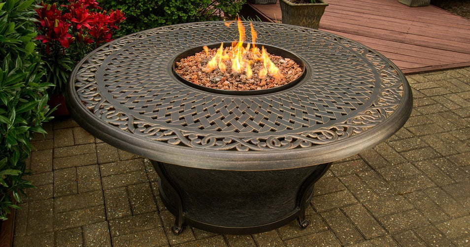 Get an Agio International Fire Pit and an RV – It Will Travel!
