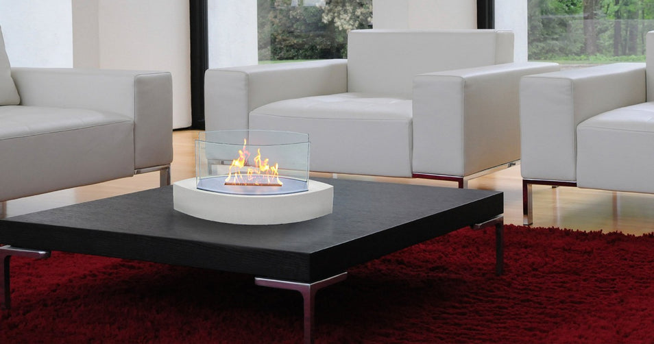 Portable Warmth Has Never Been Easier with a Table Top Ethanol Fireplace