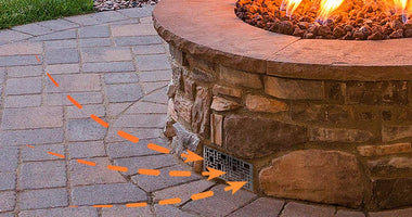 Starfire Designs Decorative Fire Pit Venting Panel