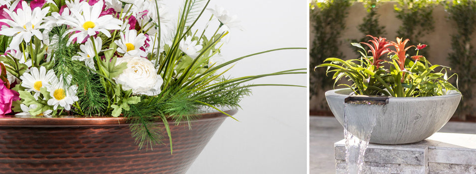 Cazo Copper Planter and Sedona Planter and Water Bowl by The Outdoor Plus