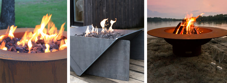 Corten Steel and Carbon Steel Fire Pits