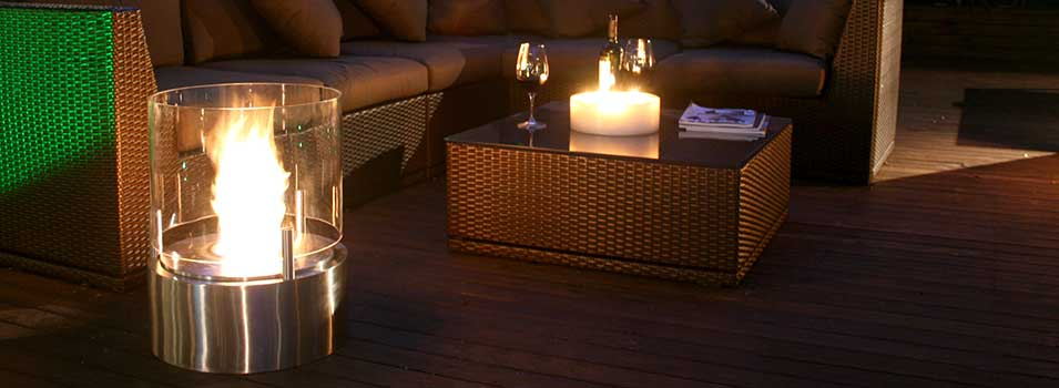 EcoSmart Cyl Bioethanol Fire Pit at Starfire Direct