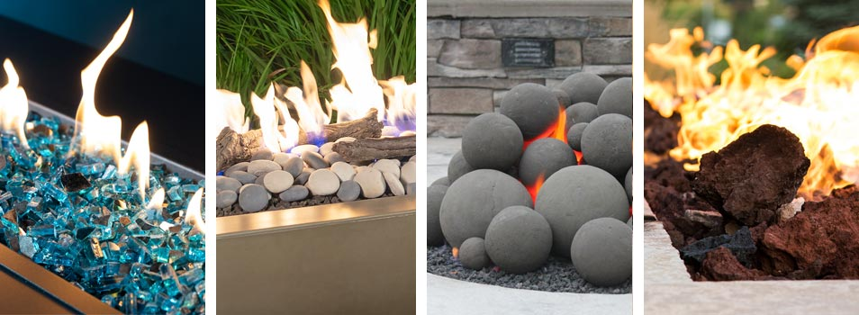 Fire glass, fire stones, fire shapes, lava rock