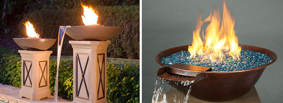 Fire and Water Backyard Bowls