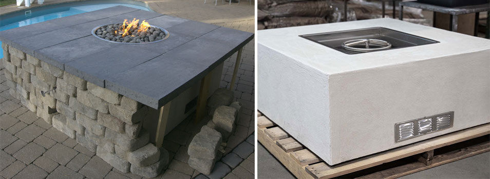 HPC unfinished fire pit enclosure The Outdoor Plus Ready-to-finish fire pit enclosure