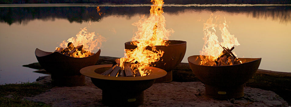 Manta Ray Fire Pt, Magnum Fire Pit, Funky Dog Fire Pit, Scallop Fire Pit by Fire Pit Art