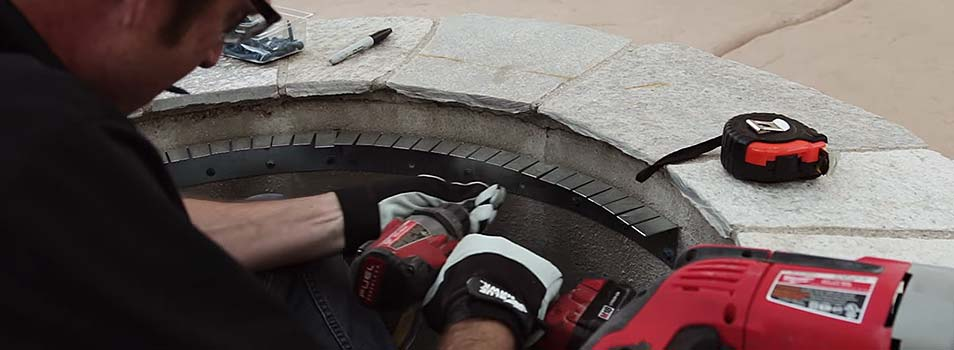 Reduce the cost of materials with form fitting fire pit ledges for your DIY fire pit