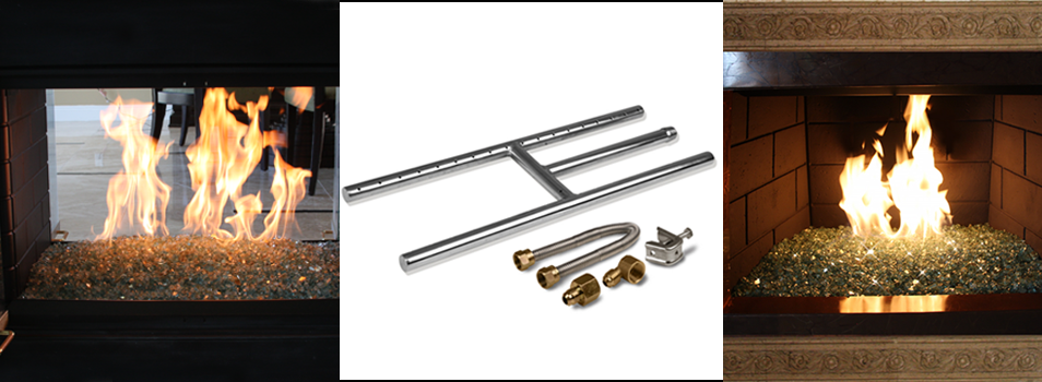 Starfire Designs Stainless Steel Fireplace H-Burner Kit