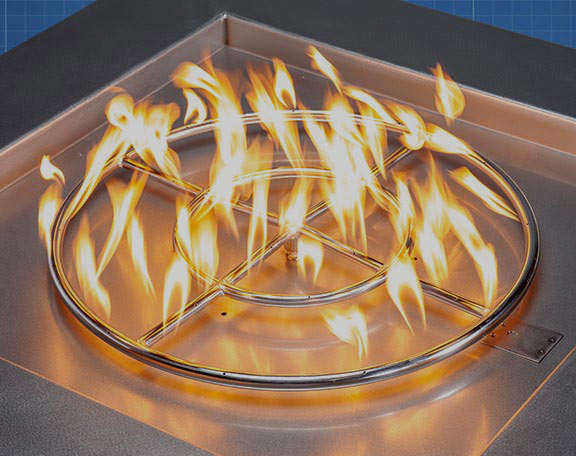 A Starfire Designs fire pit rings and burners sale