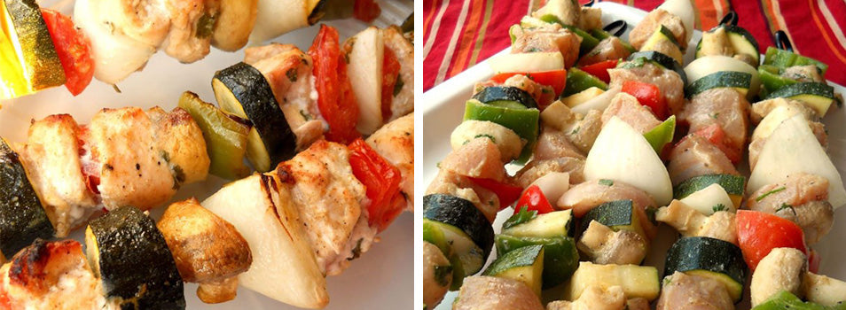 Chicken Kabob Mexicana with Napoleon Rotating Skewer Rods