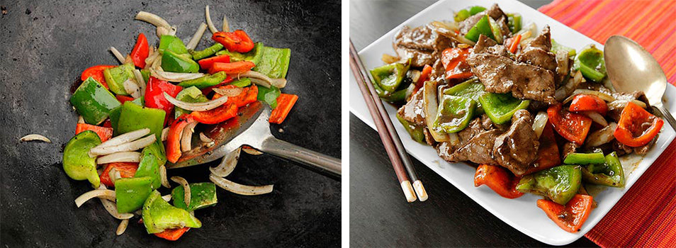 Chinese Pepper Steak Stir Fry with DCS Commercial Wok