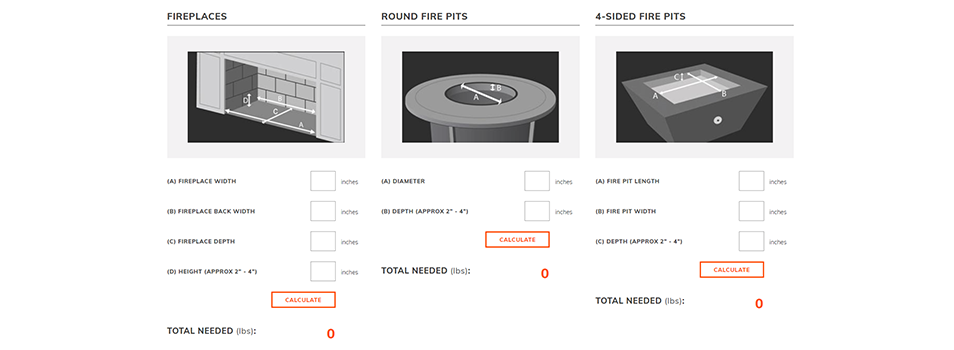 Determine the quantity of fire media you need using our helpful Fire Glass Calculator.