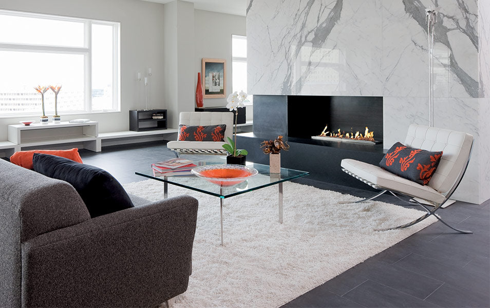 Modern Indoor Fireplace Collection
