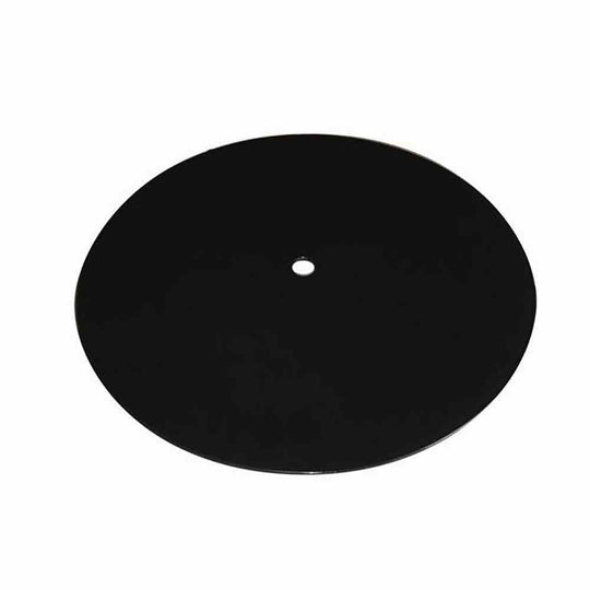 "20"" Round Black Tempered Glass Burner Cover"