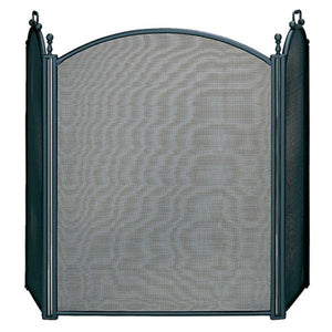 3 Fold Large Diameter Black Finish Screen with Woven Mesh - Starfire Direct
