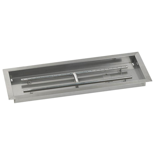 "30"" x 10"" Rectangular Stainless Steel Drop-In Pan with Spark Ignition Kit - Propane"