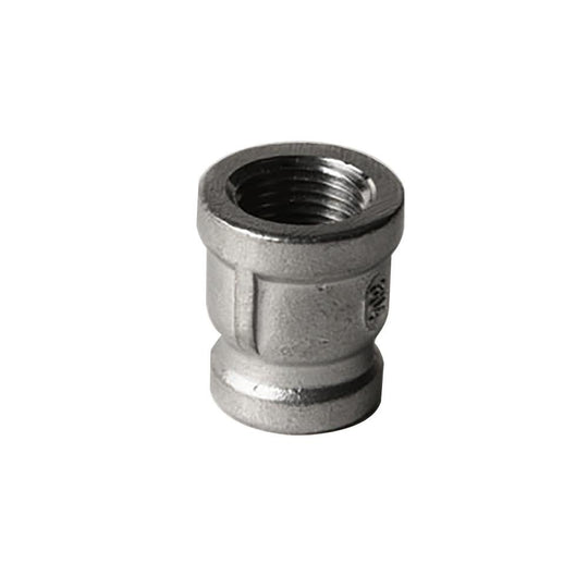 "304 Stainless Steel 1/2"" x 3/8"" Coupling - Starfire Direct"