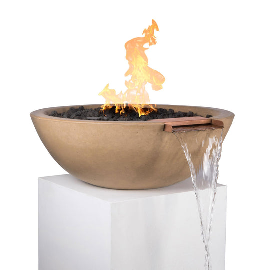 "33"" Round Concrete Fire and Water Bowl - Starfire Direct"