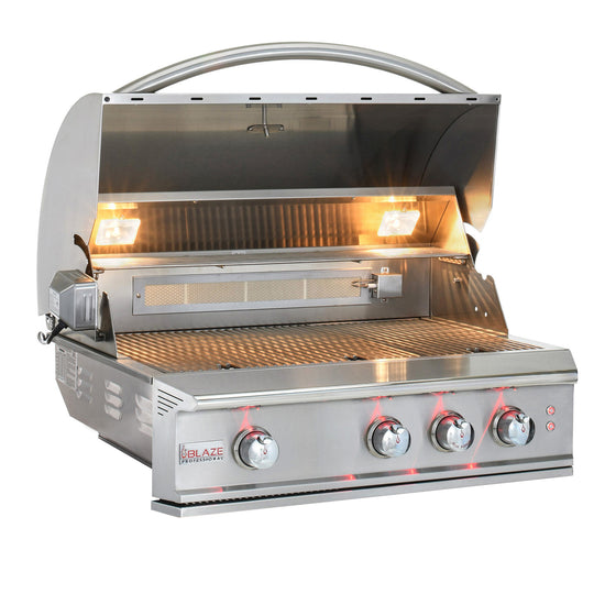 "34"" Blaze Professional Built-In Grill with Rear Infrared Burner - Starfire Direct"