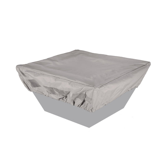 "40"" Square Fabric Fire Pit Cover - Gray - Starfire Direct"