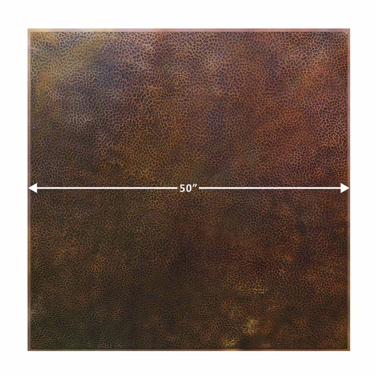 "50"" Square Moreno Copper Table Top"