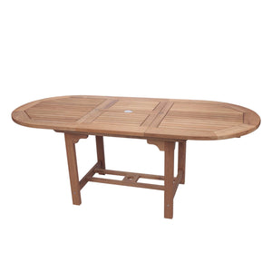 "60-78"" Oval Family Expansion Teak Table - Starfire Direct"
