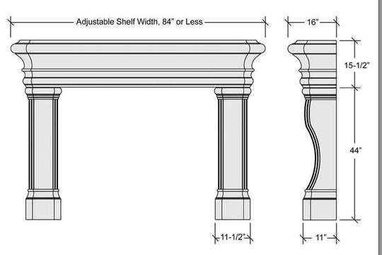 "84"" Malibu Fireplace Mantel"