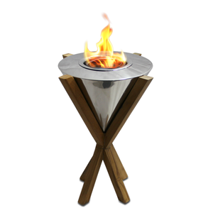 "12"" Southampton TableTop Fireplace in Teak"