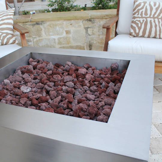 "35"" Square Stainless Steel Fire Pit"