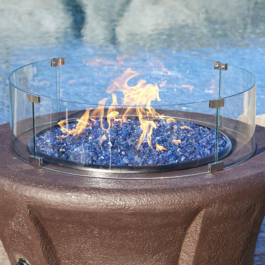 American Fire Glass Round Glass Flame Guard