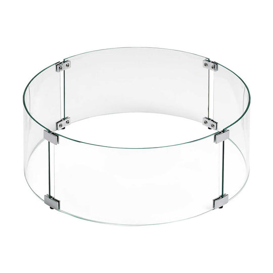 Round Glass Flame Guard for Round Drop-In Fire Pit Pan - Starfire Direct