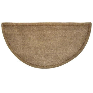 Beige Hand-Tufted Wool Hearth Rug