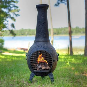Butterfly Gas Chiminea