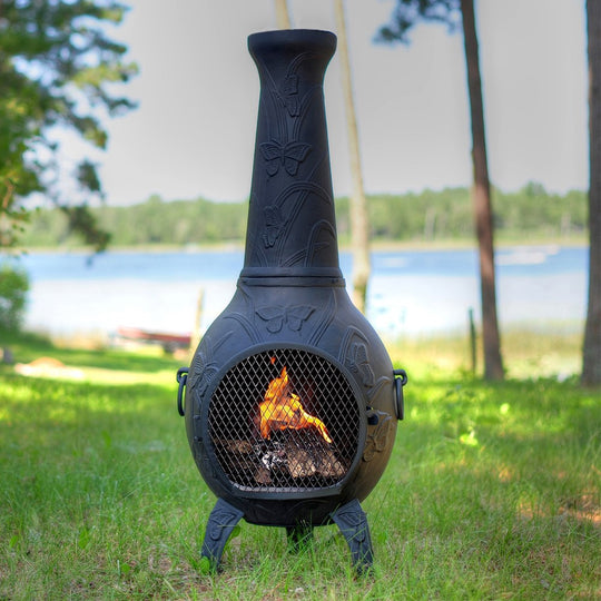 Fire Pits Chimineas: Butterfly Gas Chiminea