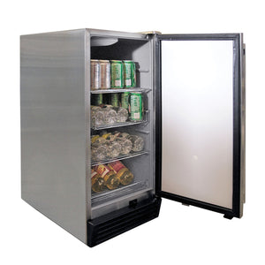 Cal Flame Outdoor Rated Stainless Steel Refrigerator