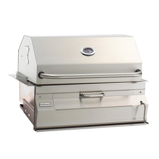 Charcoal Built-In Smoker Grill